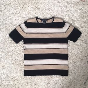 Striped Cozy Short Sleeve